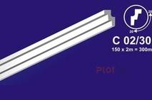 Плинтус потолочный (Багет) С 02/30 2 м.