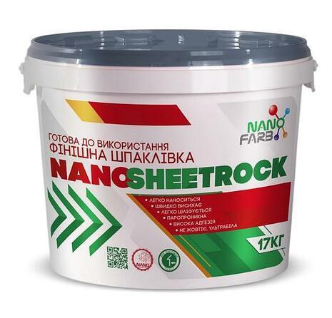 Шпатлевка финишная SHEETROCK NANOFARB