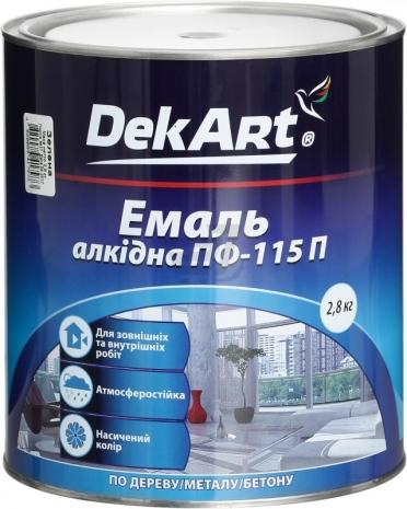 """Эмаль ПФ-115 """"DekArt"""" 2,8кг."""