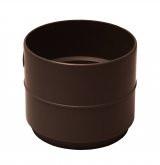 Муфта трубы коричневая