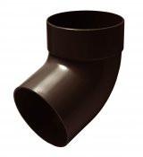 Отвод трубы одномуфтовый 67 град. коричневый