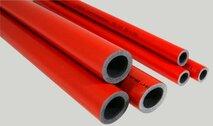 Утеплитель для труб 186мм. 2м. красный