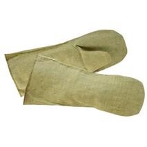 Перчатки однопалые брезентовые длинные.