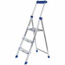 Лестница-стремянка алюминиевая на 3 ступени с площадкой