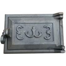 Дверца чугунная одинарная(поддувальная) 230*280 мм