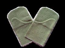 Перчатки однопалые брезентовые короткие.