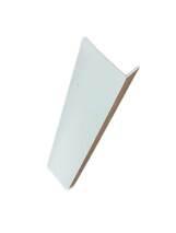 Уголок пластиковый белый 10мм.*20мм.*2,7м.(арочный)