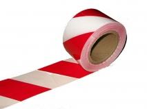 Лента сигнальная красно-белая 75мм.х100м.