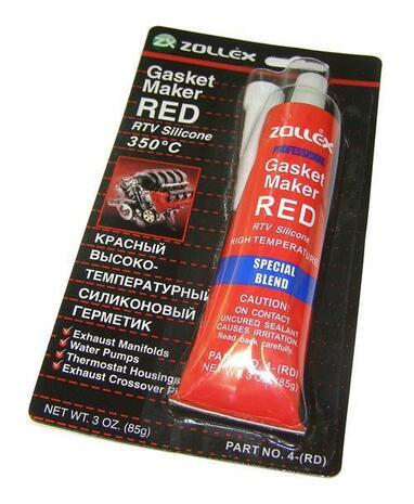 """Герметик прокладок черный и красный """"ZOLLEX""""  85 гр.(+350*С)"""