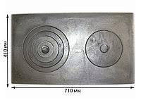 Чугунная плита 2-х комфорочная 410×710мм.